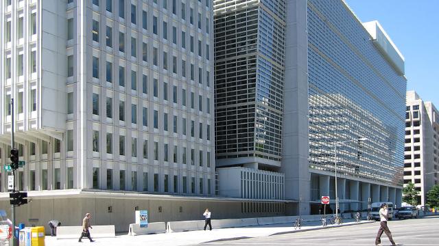 Le bâtiment de la Banque mondiale à Washington aux Etats-Unis