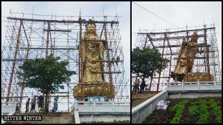 Les statues bouddhistes en plein air supprimée à tout prix