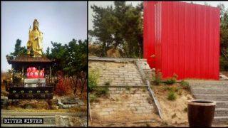 Shandong : les temples démolis, les moines sont forcés de reprendre une vie séculière