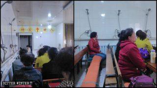 Pour échapper à la persécution, des chrétiens prient dans un sauna