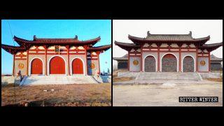 Destruction d'un temple bouddhiste malgré son « aptitude politique »