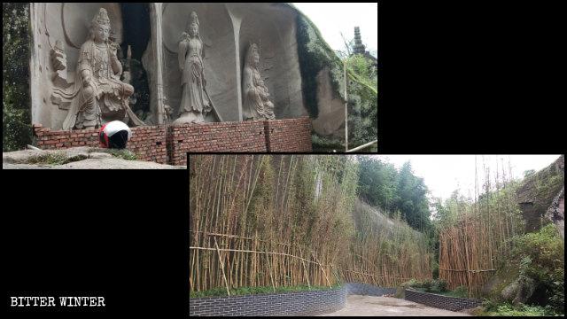 Trente-trois sculptures de Guanyin dans la région panoramique ont été cachées des visiteurs.